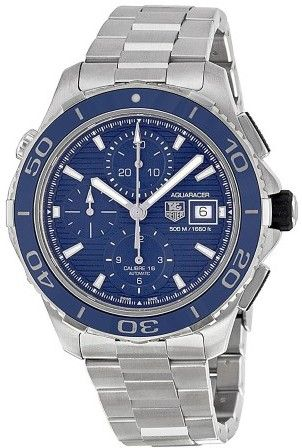 Tag Heuer Aquaracer Chronograph Blue Dial Stainless Steel Men's Watch CAK2112BA0833