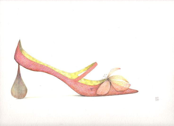 rope and petal shoe. By Sena Cifuentes