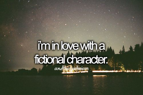 make that MULTIPLE fictional characters.  And the actors that portray them (if applicable)  X)