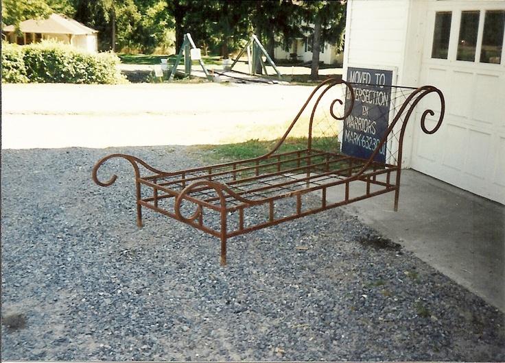 Sleigh Bed Made By Village Craft Iron