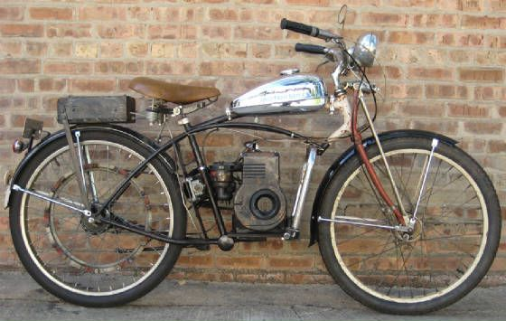 homemade motorised bicycle with lawnmower engine