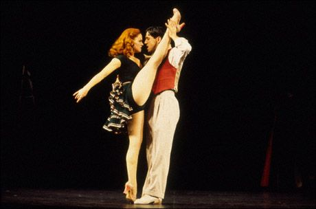 Amy Spanger and Michael Berresse in Kiss Me Kate!