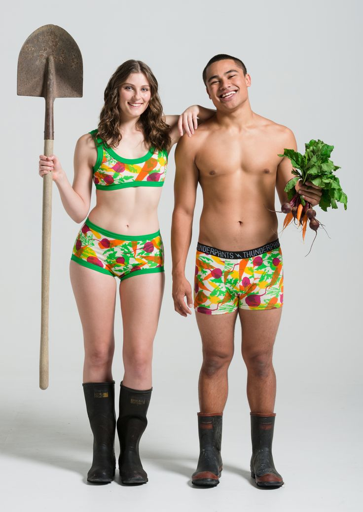 Thunderpants, organic and New Zealand made, for every pair of Root vegetable Thunderpants sold $2 goes towards organic community gardens around NZ