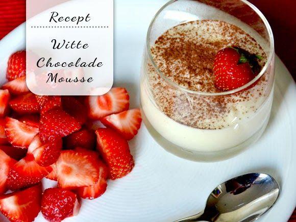 Hele simpele, maar hele lekkere witte chocolademousse!