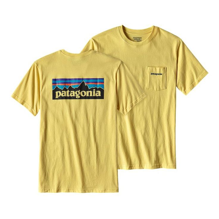 Patagonia Men's Logo Cotton Pocket T-Shirt - Yolk Yellow