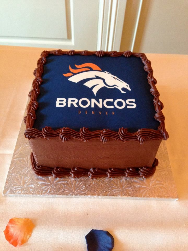 Broncos Groom S Cake Jo S Custom Cakes And Catering