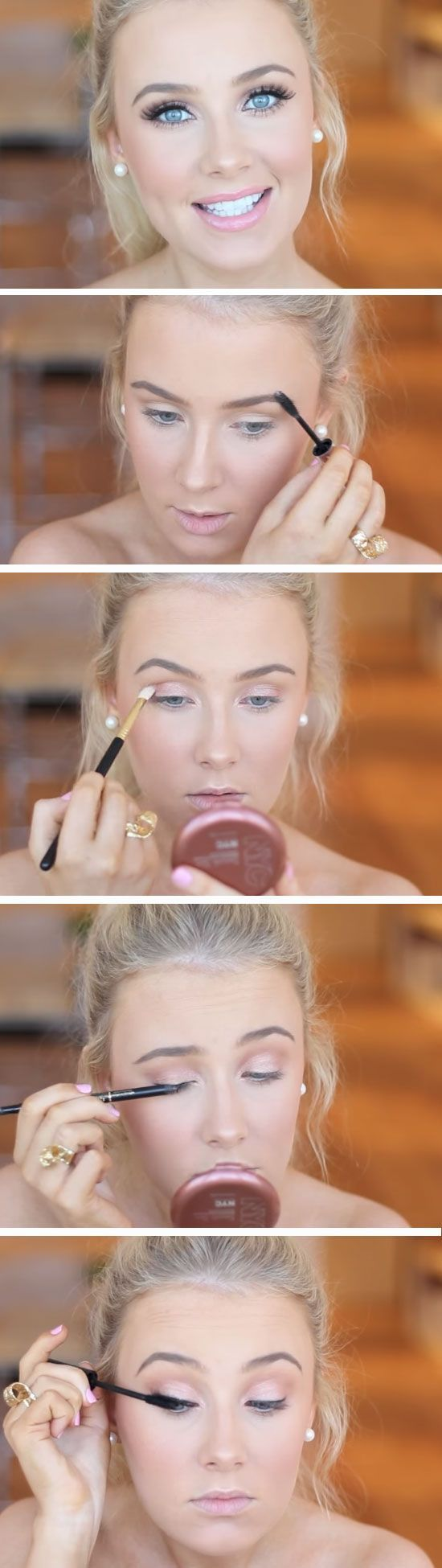 Natural | Awesome Prom Makeup Ideas for Blue Eyes | DIY New Years Eve Makeup Looks Eyeshadows