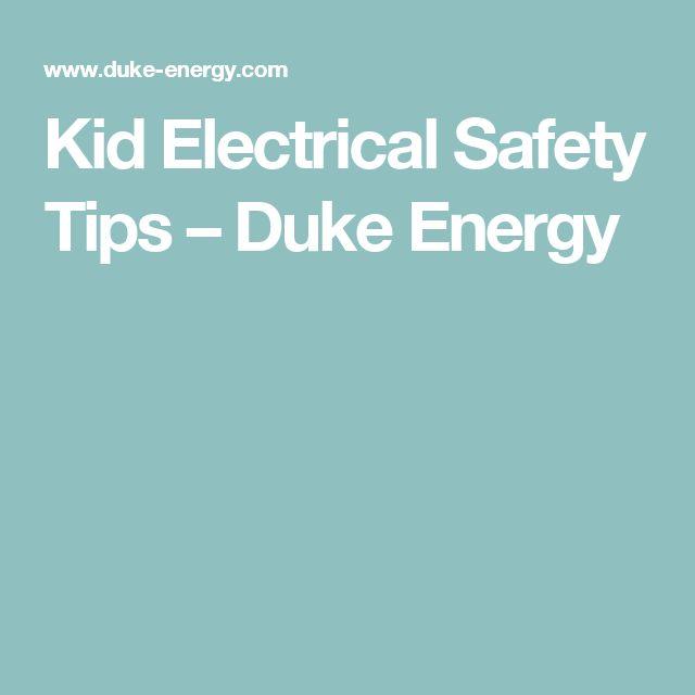 Kid Electrical Safety Tips – Duke Energy