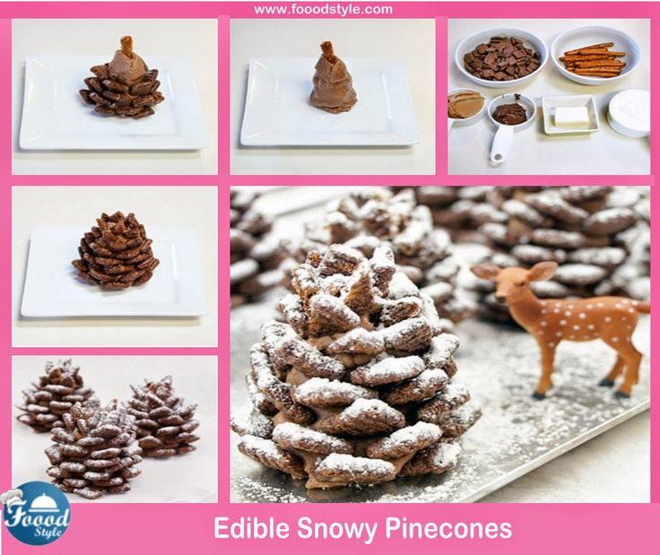 Edible Snowy Pine cones Idea ! - Foood Style