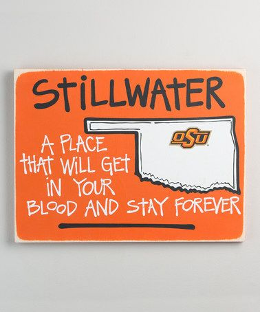 Loving this Oklahoma State Cowboys Tailgate Sign on #zulily! #zulilyfinds