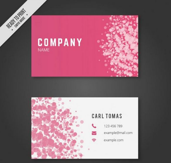 7 Free Printable Business Card Templates Free Printable Pink Business Card Free Printable Business Cards Free Business Card Templates Printable Business Cards