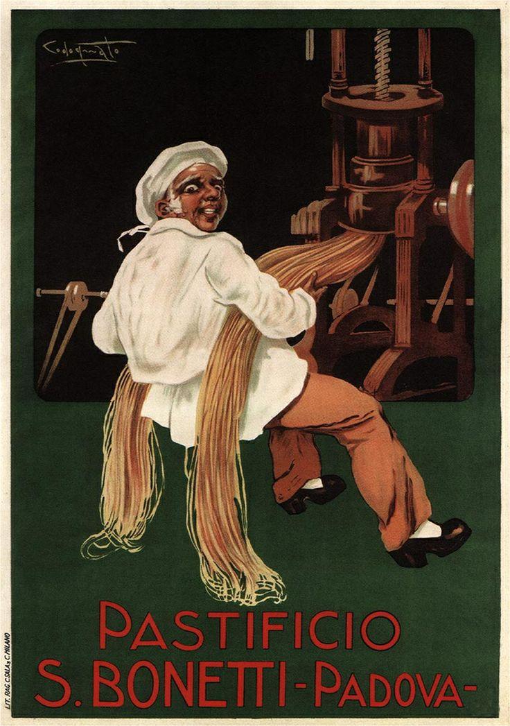 Vintage Italian Posters ~ Pasta Bonetti Ad