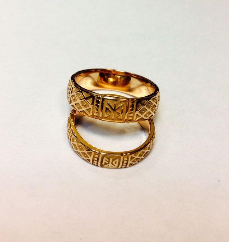 Кольца обережные: золото 585* 14ct, стоимость в зависимости от размера.