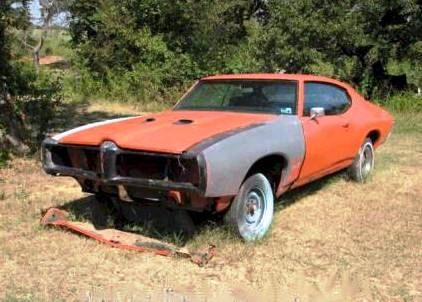 """Rebuildable Muscle Cars   1969 PONTIAC GTO """"THE JUDGE"""" - Project Car - $4,400 - NHN-432"""