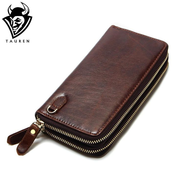 New Arrival Rushed Soft Genuine Leather Unisex Solid Coffee Clutch Style Carteiras Wallet Free Shipping  Men's Vintage Wallets
