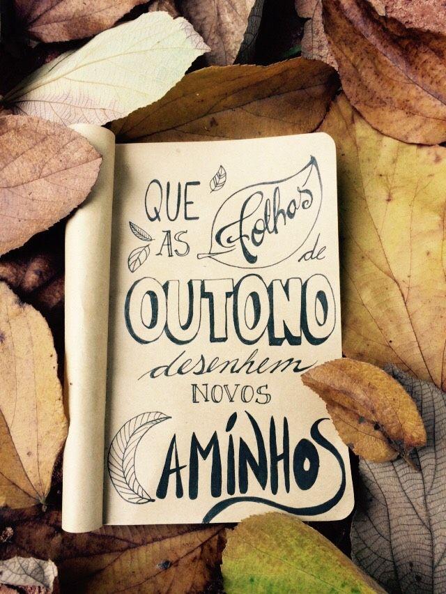 Que as folhas de Outono desenhem novos caminhos.