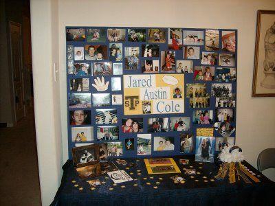 high school graduation memory table idea | ... High School Senior. Isn't this a 'must' at all graduation open houses