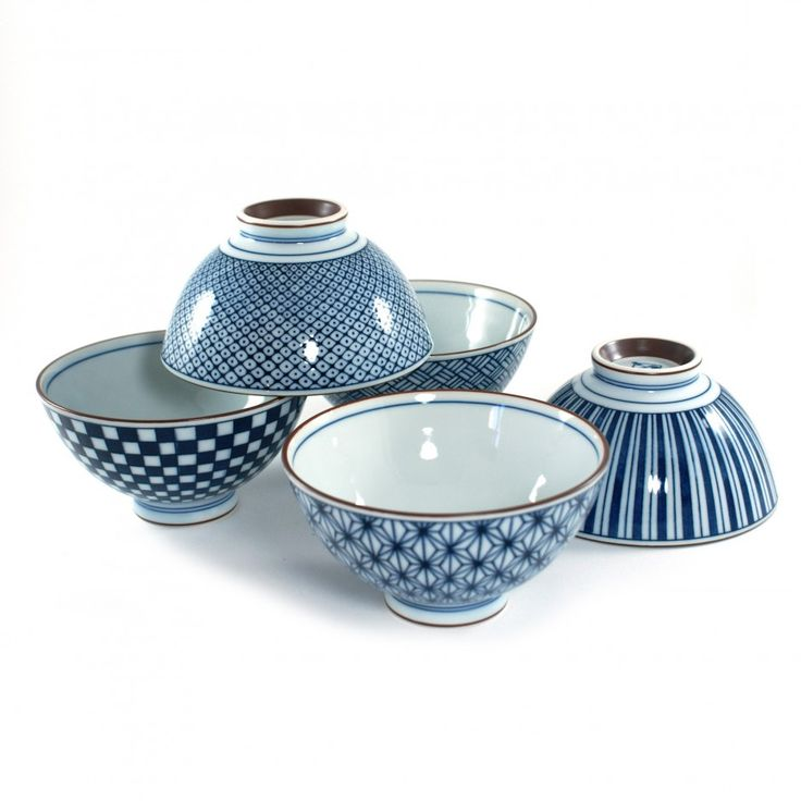 japonais | set de 5 bols à riz chawan en céramique japonaise MYA200529