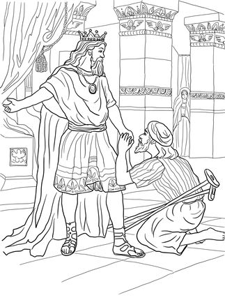 David helps mephibosheth coloring page b2 david for King david coloring pages free