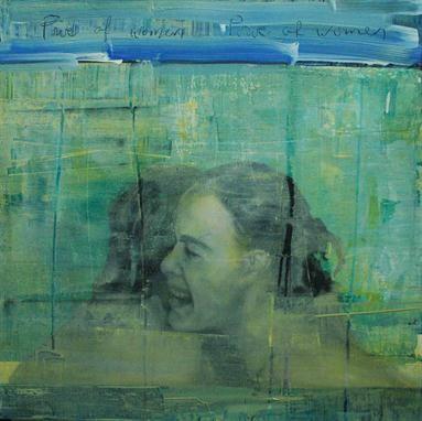 Ingrid Forfang Unframed oil on canvas `Power of Women` (95cm x 97cm)