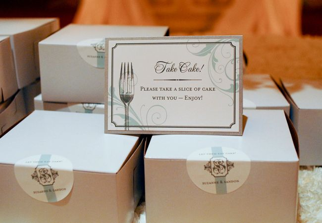 Photo: Suzy Clement Photographs // Featured: The Knot Blog - Take the Cake Wedding Favors