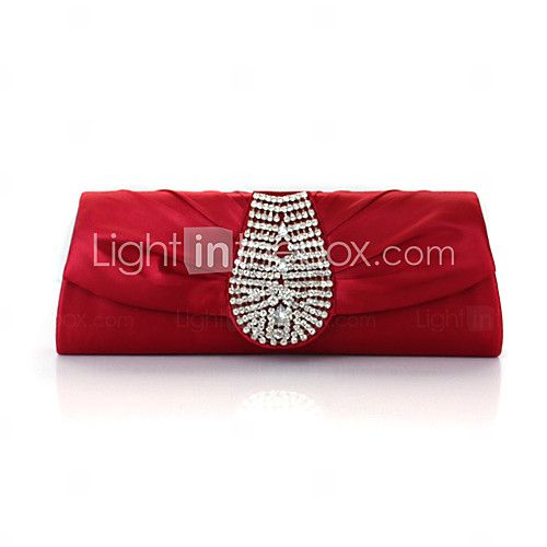 Gorgeous Silk With Austria Rhinestones Evening Handbags/ Clutches - USD $15.99