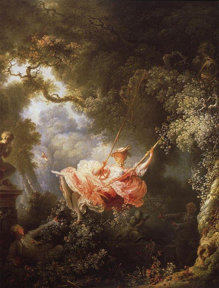 Jean-Honore Fragonard. the Swing (1767) | Arte rococo. Arte romanticismo. Arte renacentista pintura