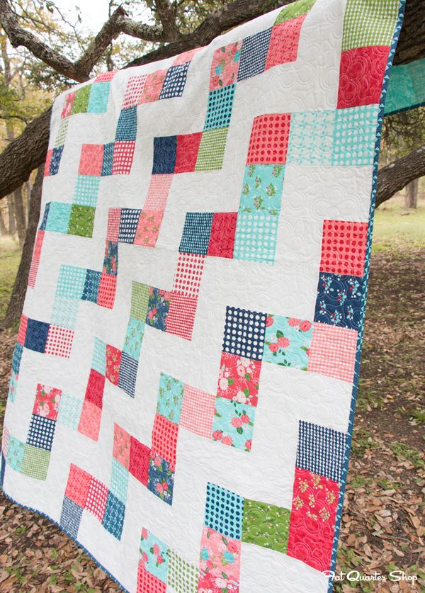 No Bake Jolly Bar: Free Quilt Pattern by Fat Quarter Shop - Fat Quarter Shop's Jolly Jabber