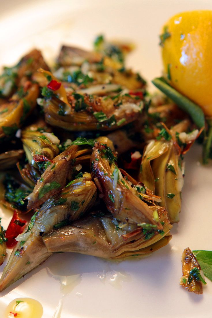 NYT Cooking: Pan-Roasted Baby Artichokes