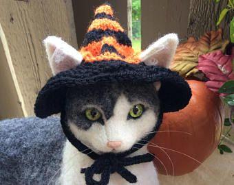 Halloween, cappello di strega, Streghe cappello, cappello di strega per gatto, cappelli per gatto cappelli, costumi di gatto, gatti, gatto foto prop, Patrikka, costumi animali, gatti