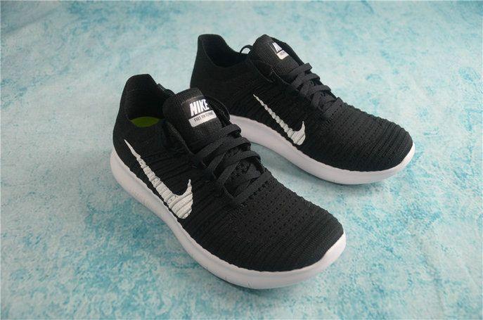 Nike Free Rn Flyknit Boys Shoe 2016 831069 001 Black White Black Nike Free Rn Nike Running Shoes Nike