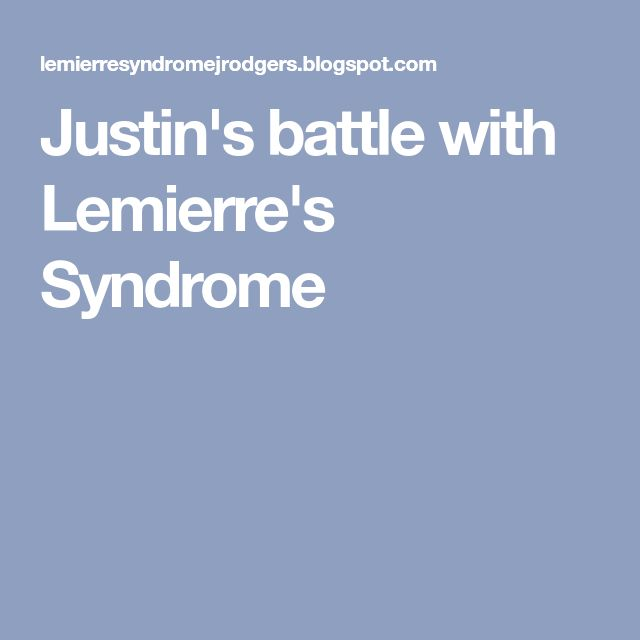 Justin's battle with Lemierre's Syndrome