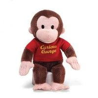 "GUND has teamed up with everybody's favorite monkey — Curious George! This adorable 12"" plush version