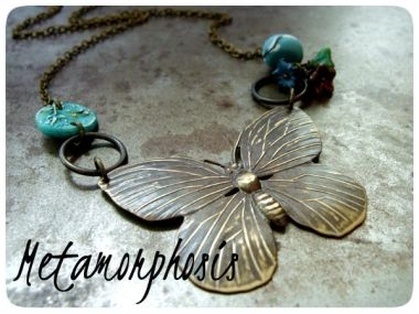 Download or print the project: Metamorphosis Necklace  Shop for Teal Willow Disk Beads and Tiny Spring Rain Willow Charms