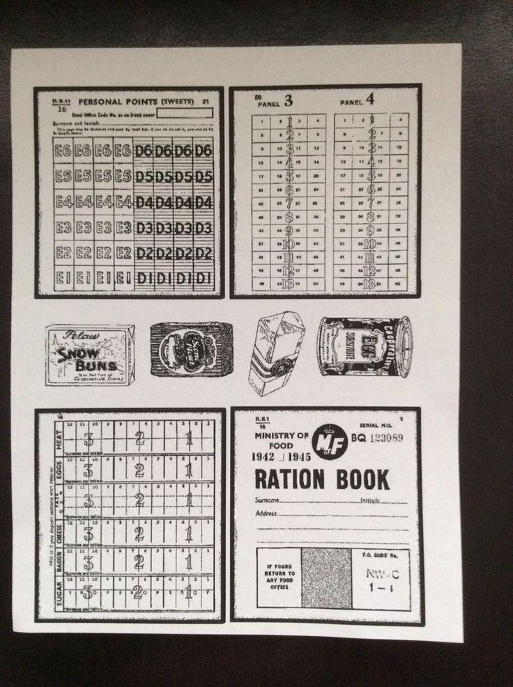 Vintage Ration Book  A5 Rubber Stamp Set.  | eBay