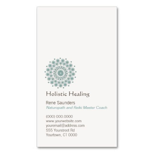 Healing Arts and Natural Healing Circle Logo Business Card Template. Make your own business card with this great design. All you need is to add your info to this template. Click the image to try it out!