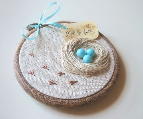 bird nest embroidery; http://www.etsy.com/listing/71181003/organic-hand-embroidered-wall-hanging?ref=fp_treasury_2