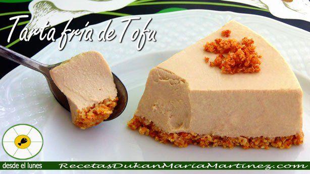 Tofu Mercadona, recetas: Tarta fría de queso y tofu, apta para la dieta Dukan desde la primera fase