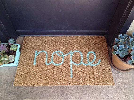 Nope welcome mat