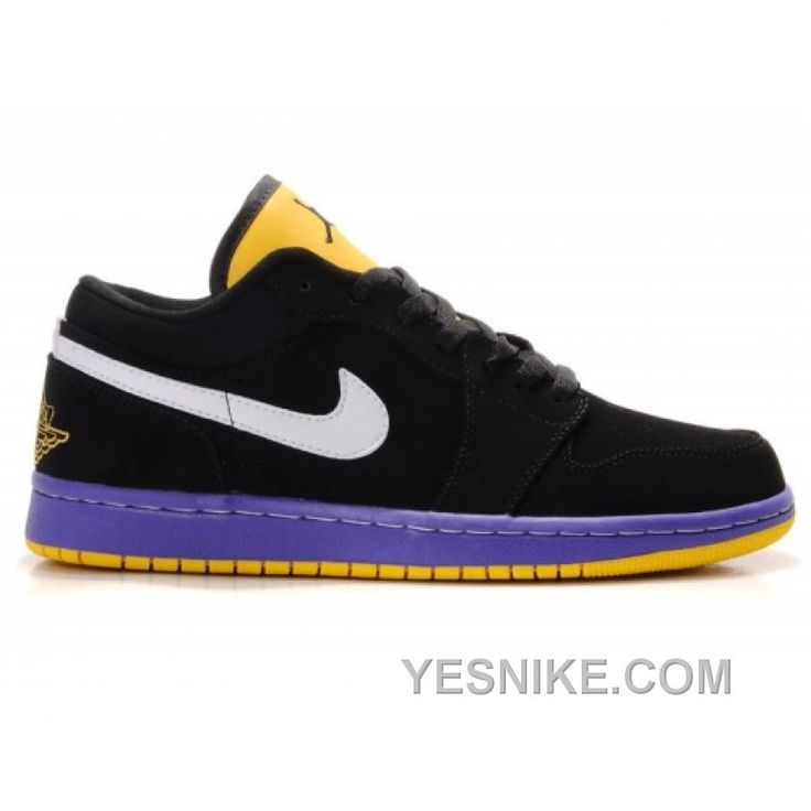 Air Jordan 1 Phat Low Black Purple Yellow White 350571-071