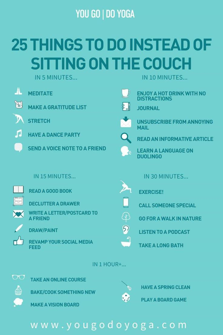 25 things to do instead of sitting on the couch in 2020
