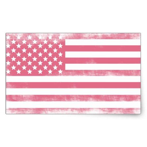 drapeaux roses | Drapeau américain grunge rose à la mode sticker rectangulaire ...