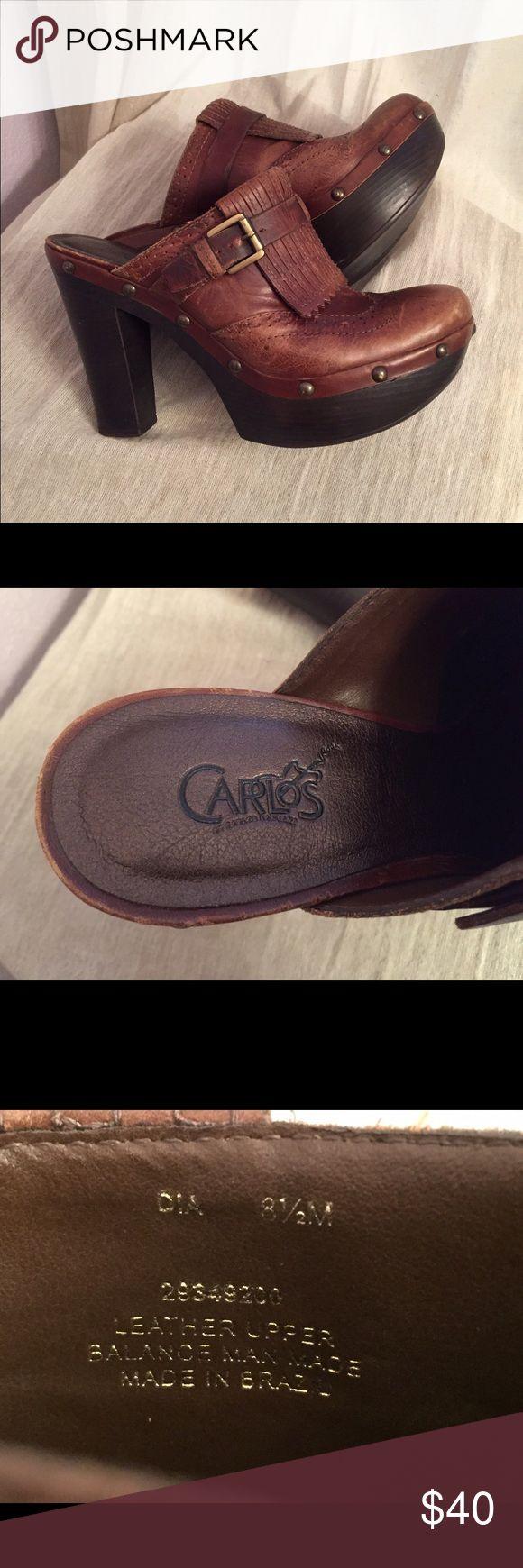 Carlos Santana Leather Clogs. Carlos Santana leather clogs. New. Never worn. Carlos Santana Shoes Mules & Clogs