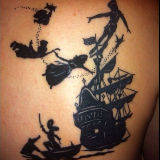 amazing peter pan tattoo. My friend Jessica will love this. Maybe a
