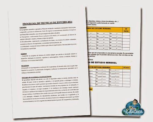MALETÍN DEL PROFE | Programa de técnicas de estudio ~ La Eduteca
