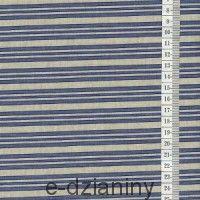 Dzianina bawełniana - niebieskie paski