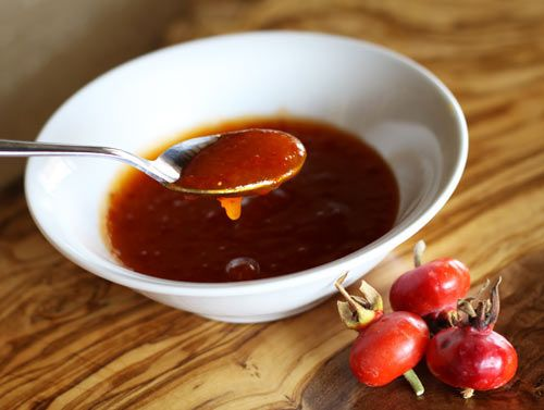 I have recently discovered that the rose hip, the orange berry-like fruit that remains on the rose plant once the flower has died, can actually be used for many things including jam, jellies, and syrup.