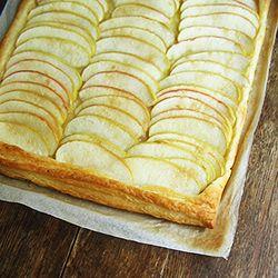 Tarte fine aux pommes. Simple yet elegant Nigella's puff pastry apple tart.