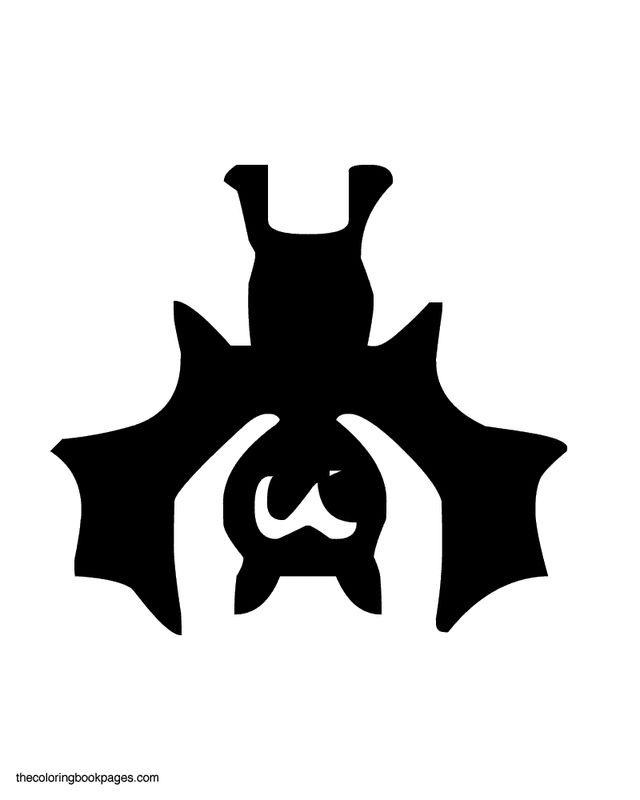 easter stencils printable | Upside-down bat - Bat pumpkin carving stencils