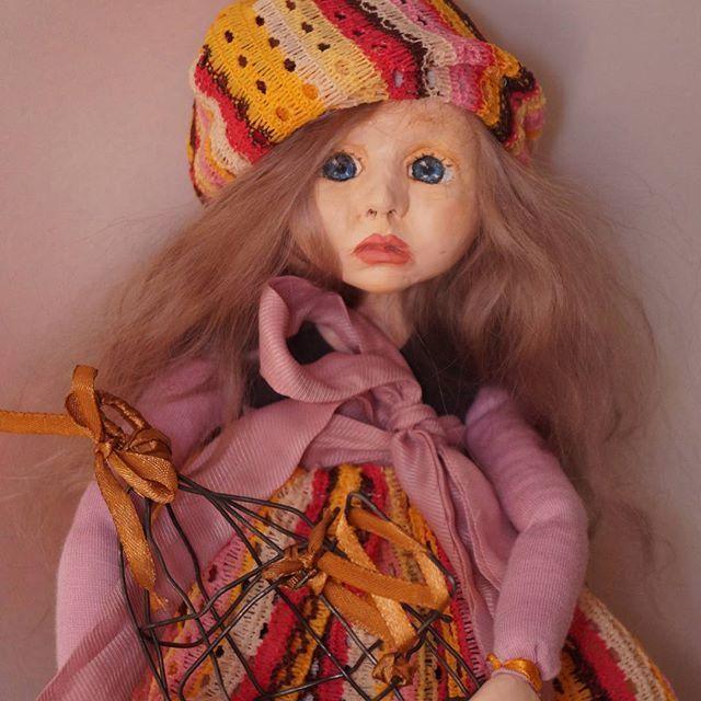 Вот и уехала малышка в новый дом, радовать хороших людей😊 счастливого пути 😍 #авторскаякукла  #интерьернаякукла #куклавподарок #оригинальныйподарок #кукла
